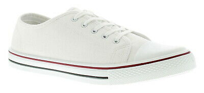 Urban Empire Connor Mens Canvas Shoes White UK Size 7