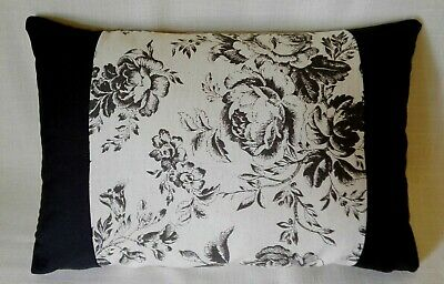 Handmade Drum Lampshade Cabbages and Roses Paris Floral Black Linen fabric