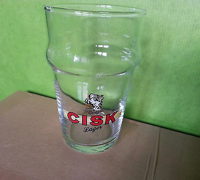 Bicchiere calice boccale beer birra Cisk Lager  0,20 l pub bar  stock lotto