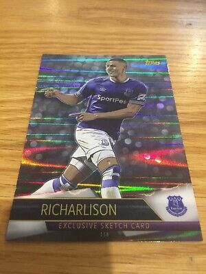 Topps Match Attax Ultimate Richarlison Exclusive Sketch Card # 138