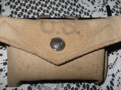 Rare Wwii First Aid Pouch /Contents Mfg. By British   Us Military
