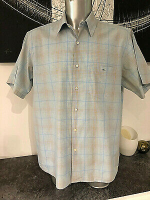 Pretty short Sleeve Shirt Pastel Elmer Check Lacoste Size 44 XL