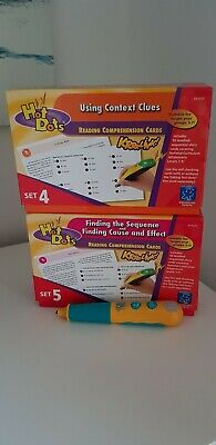 Hot Dots Jolly Flash Cards & Pen, sets 4 & 5 - Reading comprehension years 3-7