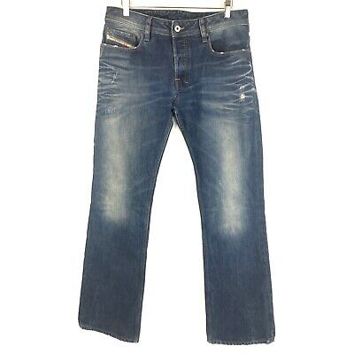 d040a191 Diesel Mens Jeans Zatiny Bootcut Size 32 x 32 Distressed Button Fly 100%  Cotton