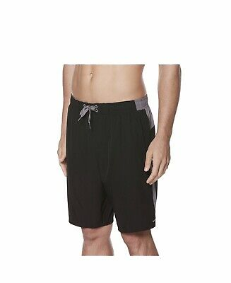 5402ea541d NIKE MEN'S VOLLEY 9 Inch Swim Trunks Shorts Nike NESS6413 Black Gray ...