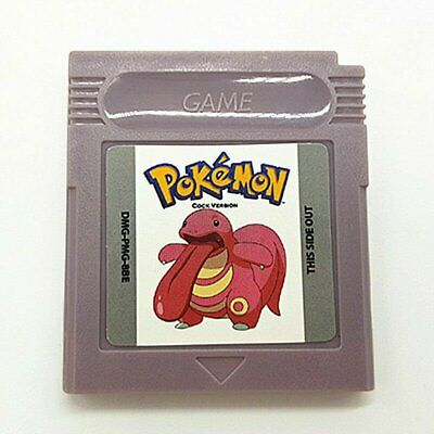 Pokemon Cock Version - Gameboy Color GBC Funny Fan Made Hack (USA Seller)