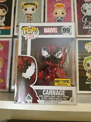 Funko POP! Marvel Universe CARNAGE #99 Hot Topic Exclusive signed Mark Bagley