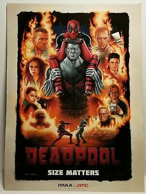 "Deadpool Original Promo Movie Poster Amc Imax Exclusive 9X13"" Ryan Reynolds"