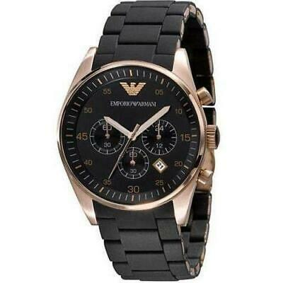 New Emporio Armani Ar5905 Rose Gold Mens Watch