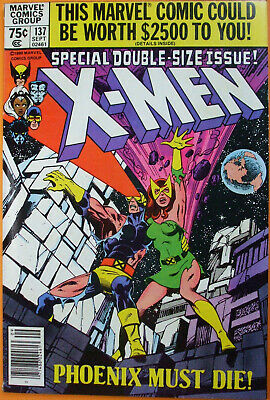X-MEN #137 (Death of Dark Phoenix (Jean Grey) 1980 Marvel comics Movie this June