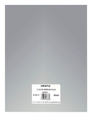 Grafix Shrink Film, 8-1/2 x 11 Inches, Clear, Pack of 50