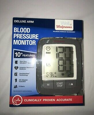 New Walgreens Deluxe Arm Blood Pressure Monitor 10+ Features Homedics