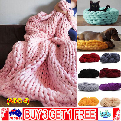 250g Super Thick Bulky Wool Yarns Soft Chunky Hand Knitting Hat Scarf Blankets G
