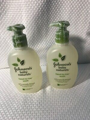 Johnsons Baby Naturals  HEAD-TO-TOE WASH 9 OZ---NEW AND SEALED Set Of 2