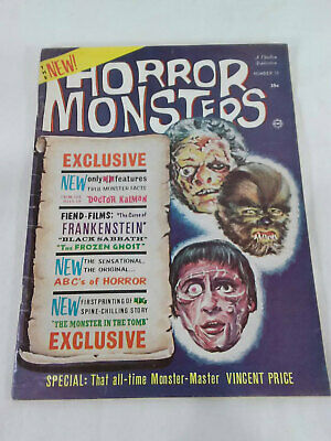 HORROR MONSTERS v.2 #10 1964 Charlton / Frankenstein Vincent Price Boris Karloff