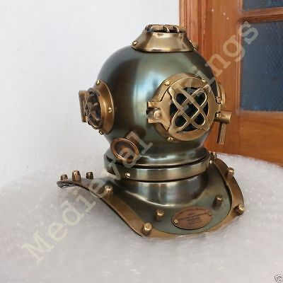 Antique Style New Brass Steel Diving Divers Helmet 7Inch Nautical Deep Sea Scuba