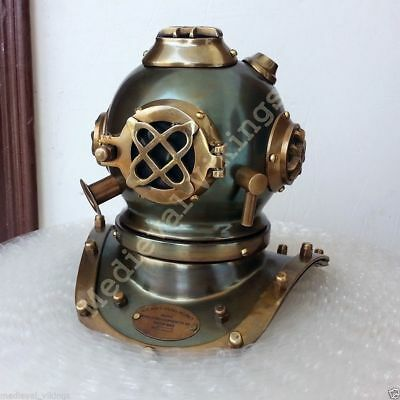 Vintage Style New Brass Steel Diving Divers Helmet Antique Style Deep Sea Scuba