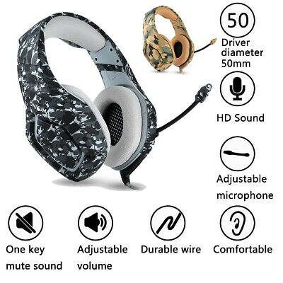 ONIKUMA K1B Camouflage Stereo PC Gaming Headset with Mic for PS4 XBOX One Cool