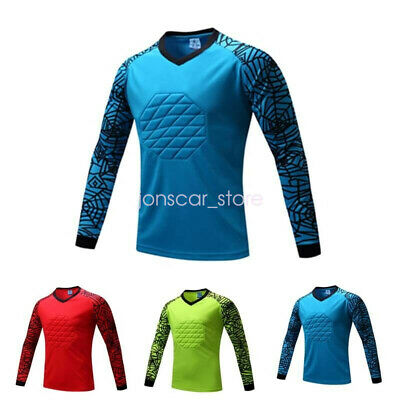 43bd4d519f6 Men's Sport Soccer Football Goalkeeper Padded Goalie Long Sleeve Jersey Top