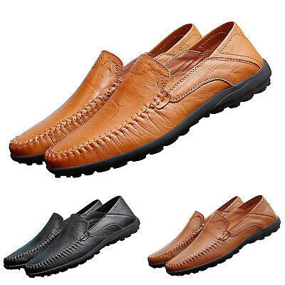 Mens Slip On Smart Shoes Formal Dress Office Work Casual Loafers Driving Shoes