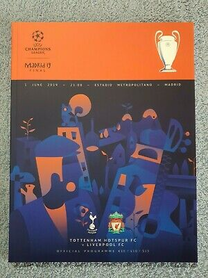 2019 - CHAMPIONS LEAGUE FINAL PROGRAMME - LIVERPOOL v TOTTENHAM - V.G CONDITION