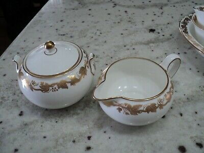 "Wedgwood Whitehall China Creamer And Sugar "" England W4001"