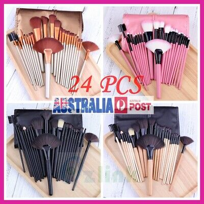 24PCS Professional Makeup Brush Kit Set Cosmetic Make Up Brushes Wood Handle