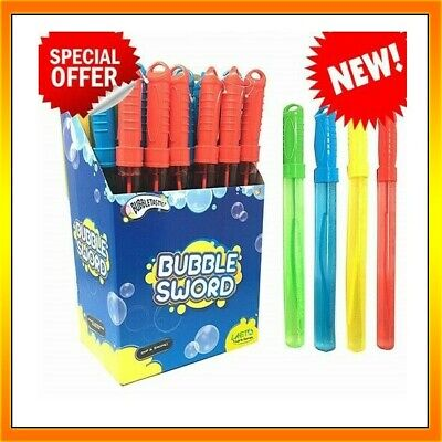 4 x Large Bubble Swords 36cm Wands Outdoor Party Summer Toys Fillers