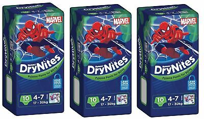Huggies DryNites Boys 4-7yrs 17-30kg BULK 3x10