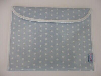 Baby Health Red Record Book Holder - BLUE/WHITE Star - Oilcloth fabric-GIFT -NEW