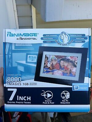 OpenBox Pandigital Panimage PI7002AW 7-Inch Analog Digital Picture Frame Black