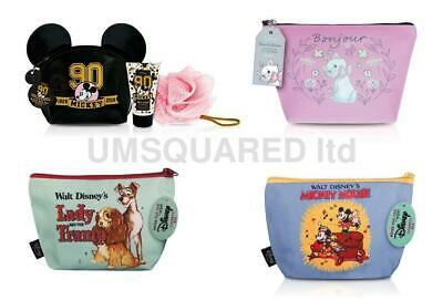 Disney Mickey Mouse, Lady and Tramp , Aristocats  Cosmetic / Wash Bags NEW