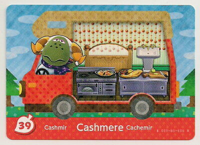 Animal Crossing amiibo Card: Cashmere 39 (Welcome Series 5) Kitchen RV New Leaf