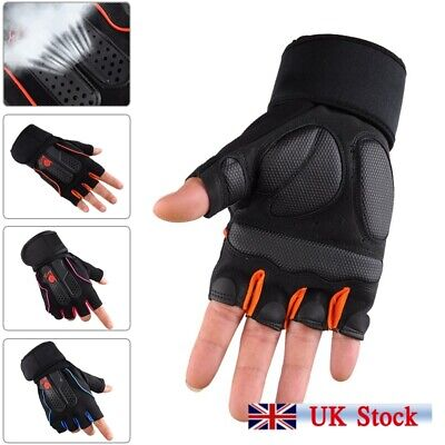 Leather Bus Driving Finger Less Gloves Gym Training Cycling Wheelchair Crochet