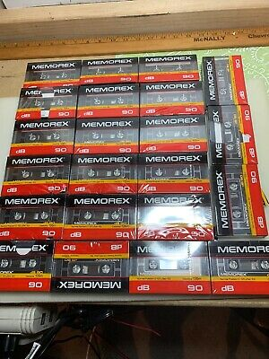 22 Memorex DB 90 Series Sealed Audio Compact Cassette Tape Normal Bias Type.