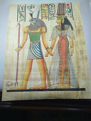 6 PCS large PAPYRUS RARE ANCIENT EGYPTIAN ANTIQUE Pharaoh Papyrus Replica