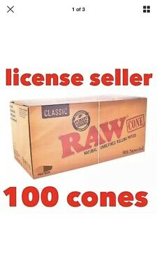Brand New 100 King Size Raw Preroll Cones