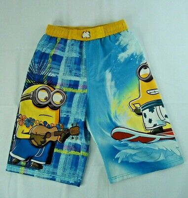 192f7615baf3f DESPICABLE ME MINION Boys Navy Beach Surf Swim Shorts Size 5 Retail ...