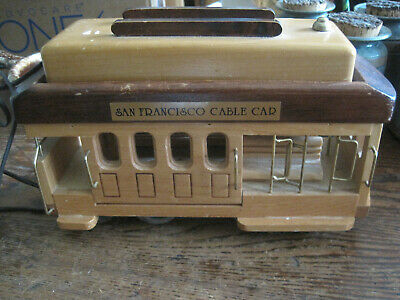 VTG Tele-mania WOOD SAN FRANCISCO CABLE  CAR Corded Telephone -PULSE&TOUCH TONE