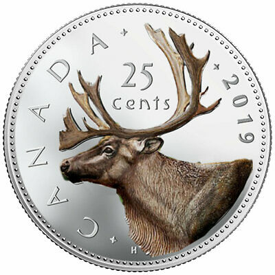 2019 Canadian 25 cents Coloured  Legal Tender Coin