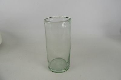 """Vintage Hand Blown & Hand Crafted Drinking Glass 6"""" Tall"""