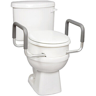 New - Carex Health Elongated Toilet Seat Elevator  With Handles