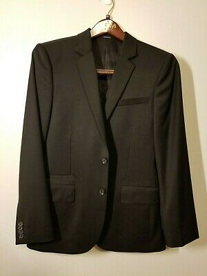 3485a356b8ee8a PRADA MENS CLASSIC 3 Button Black Wool Suit Size 46 R US Size 36 ...