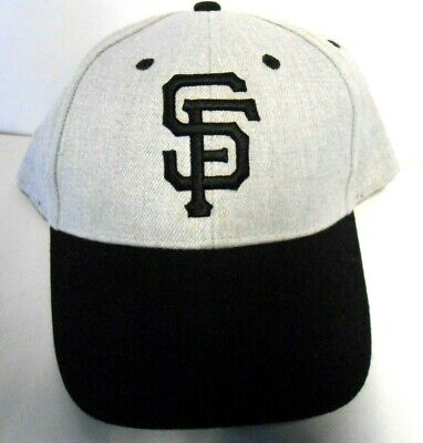 84a3f528 NEW Unworn SF San Francisco GIANTS HAT Gray & Black Snapback Baseball Cap  SGA