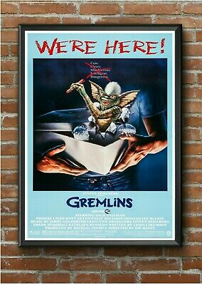 Gremlins Classic 1980's Movie Film Poster Print Picture A3 A4 A5 #1