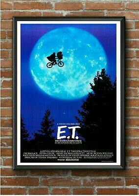 E.T #2 Classic 1980's Movie Film Poster Print Picture A3 A4 A5
