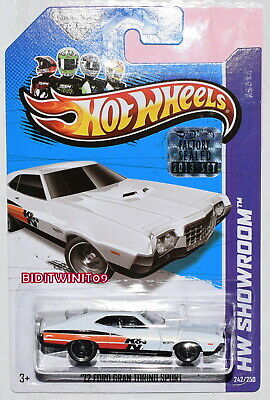 Hot Wheels 2013 Hw Exhibición '72 Ford Gran Torino Sport Blanco Precintado de