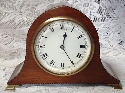 Antique Mappin & Webb Mahogany Mantel Clock, Made In France, Working Condition