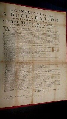 Dunlap Declaration Of Independence Replica R.r.donnelley Lakeside Press 1970