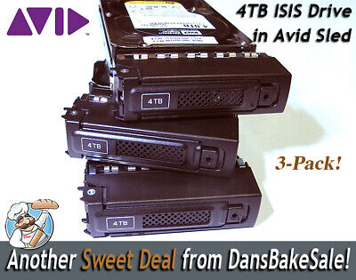 Avid ISIS 4TB  WD Drives for use with Avid ISIS Shared Storage - 3 Pack